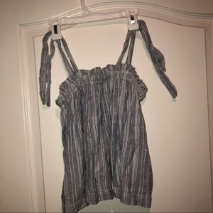 Hollister's striped tanks with ties on straps